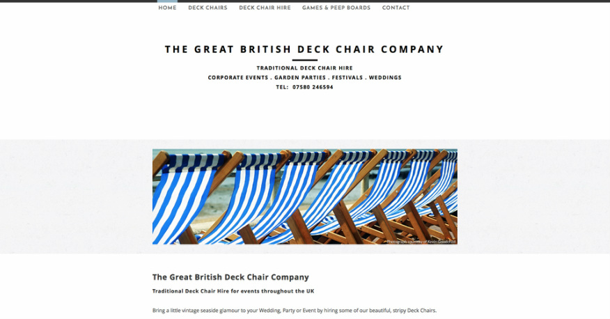 Deck Chair Hire Cafe Bon Bon